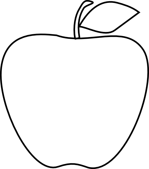 Art at getdrawings com. Drawing apple png black and white