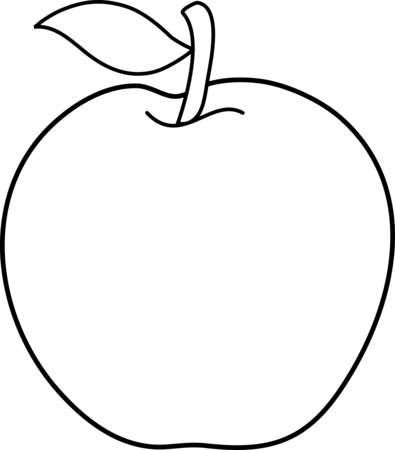 Drawing apple. Collection of an