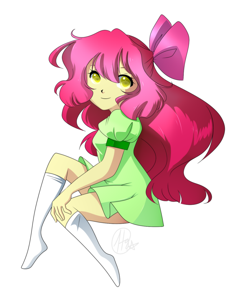 Mlp human bloom by. Drawing apple anime vector