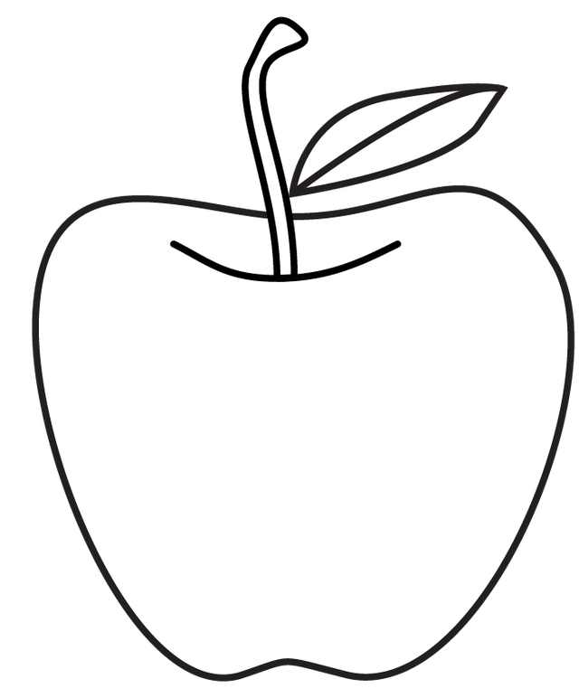 Drawing apple artistic. Collection of free appay