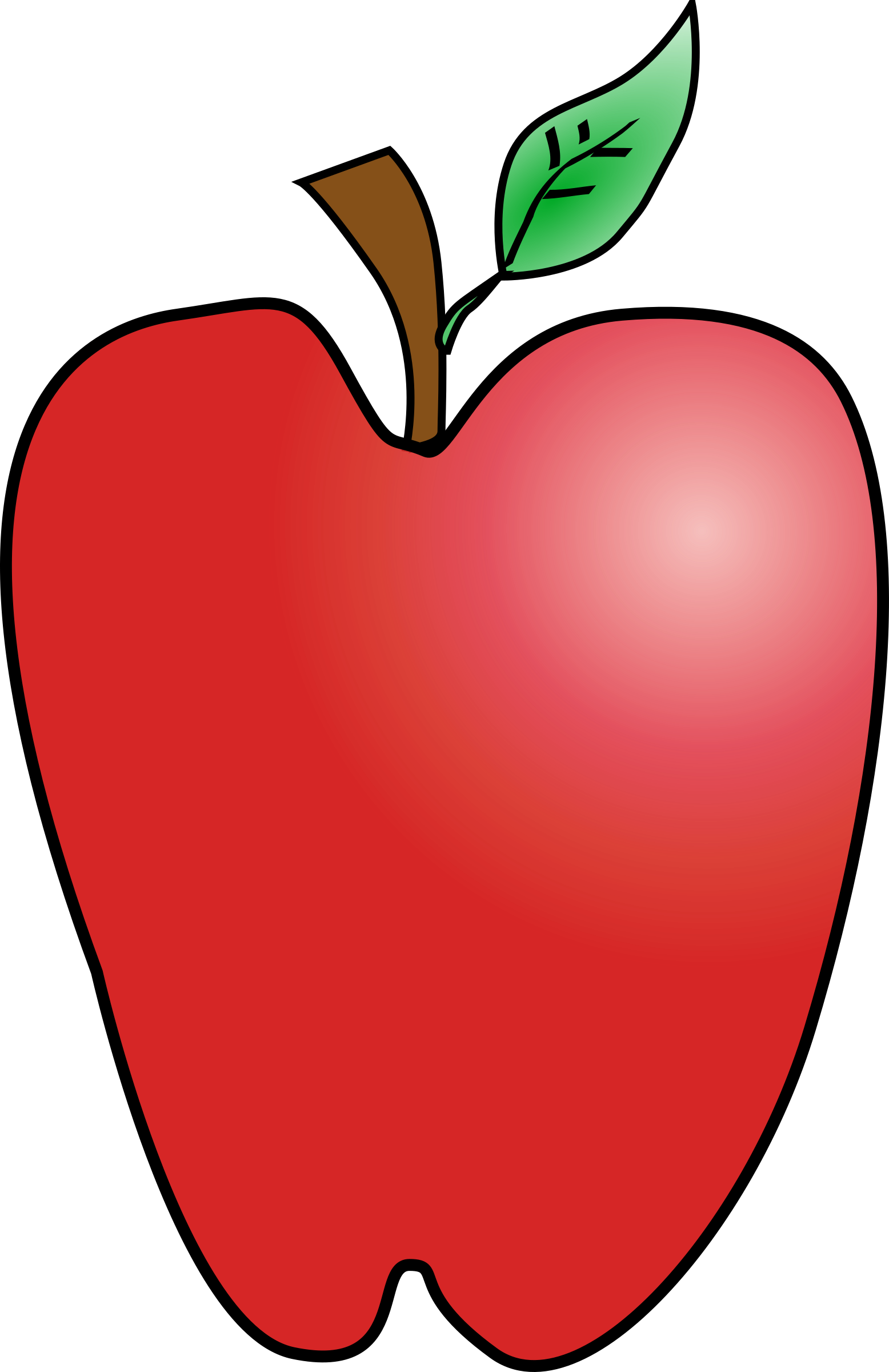 Drawing apple cartoon. Clipart k yager r