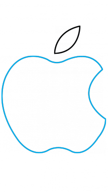 Drawing apple easy. How to draw logo
