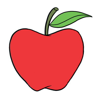 collection of high. Drawing apple easy png free download