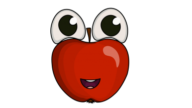 Drawing apple kid. How to draw an
