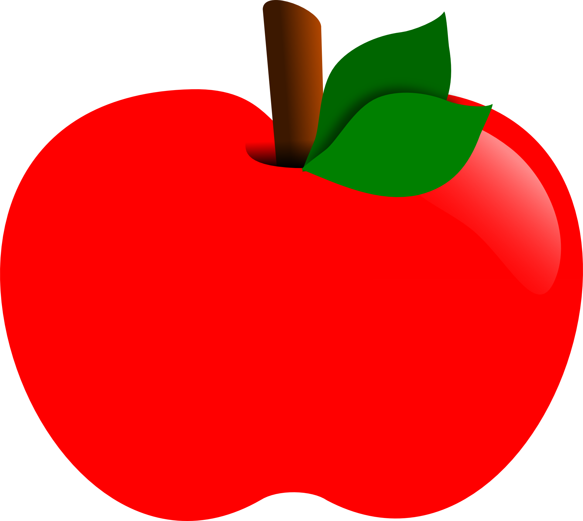 Drawing apple red. Free image