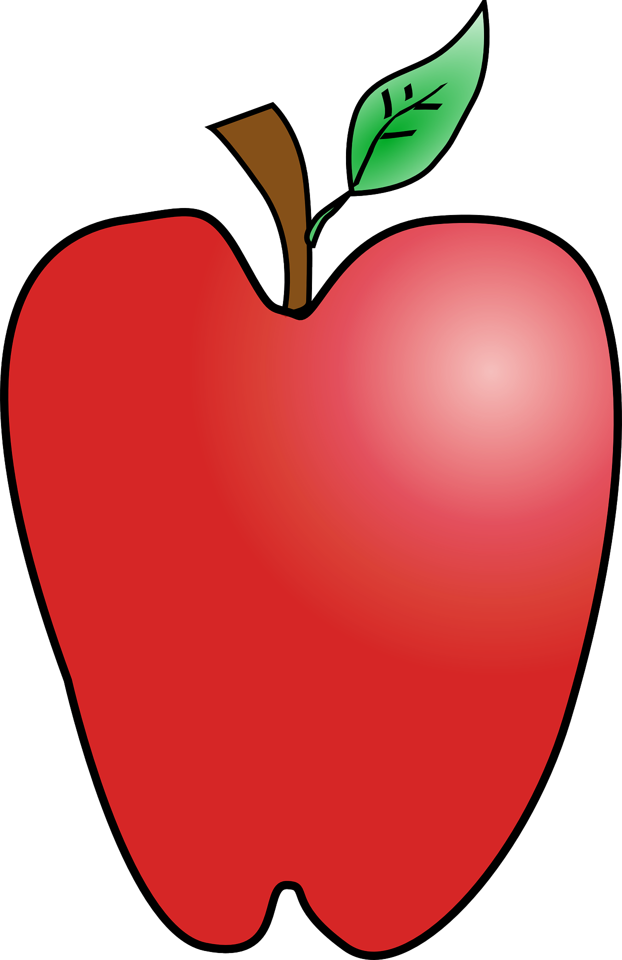 Drawing apple red. Clip art transprent png