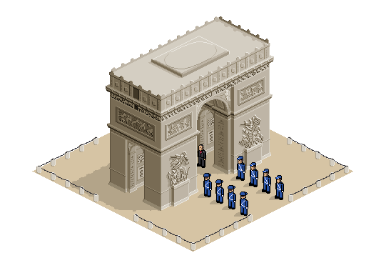 Drawing arcs de triomphe. Arc by jujucece on
