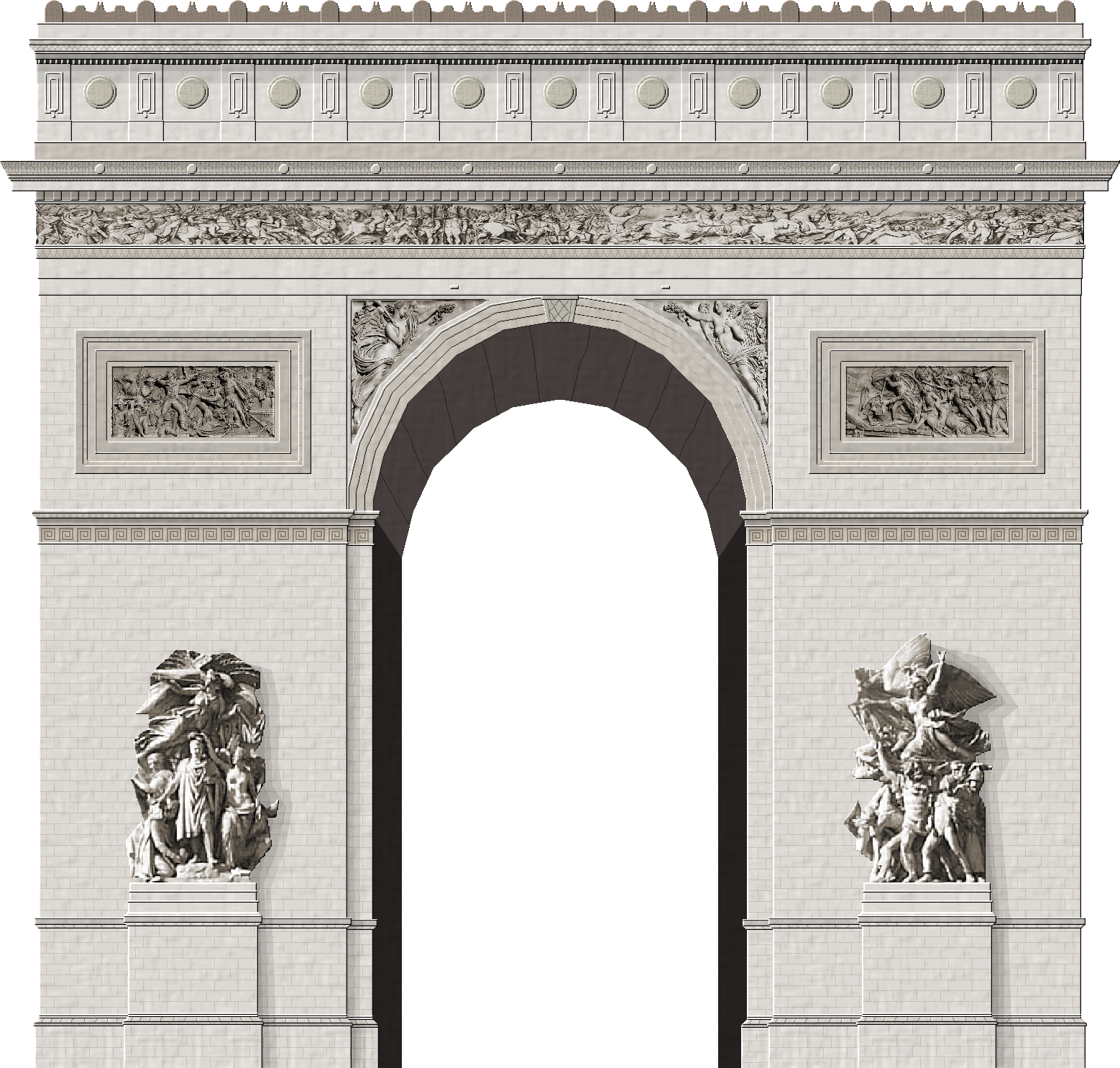 Drawing arc triomphe
