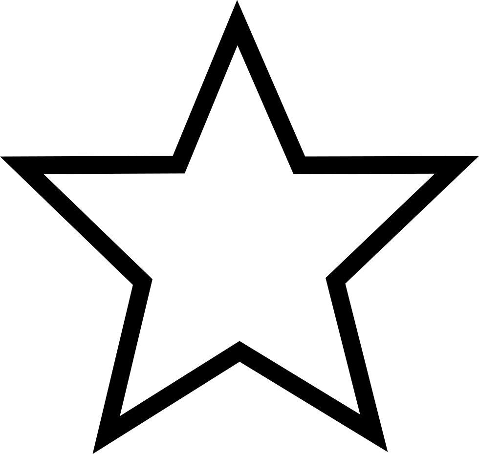 Drawing area star. Five pointed computer icons