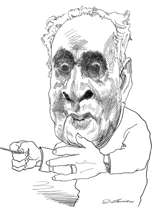 Drawing articles. Bruno walter caricatures by