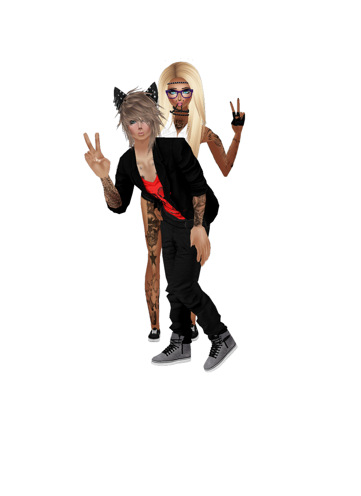 Drawing avatars cat. Captured inside imvu join
