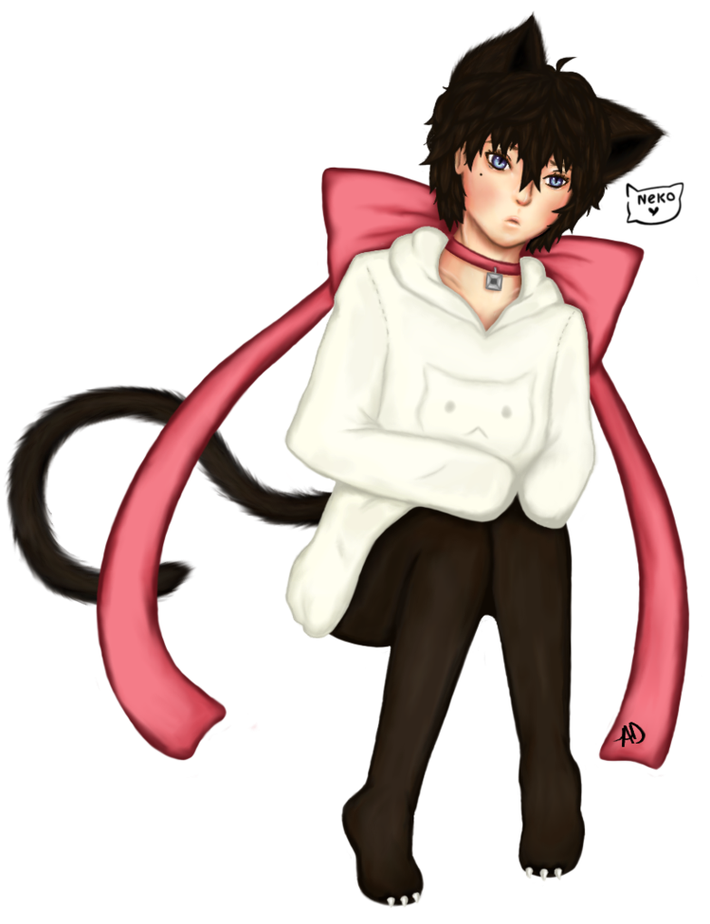 Drawing avatars cat. Gaiaonline avatar boy by