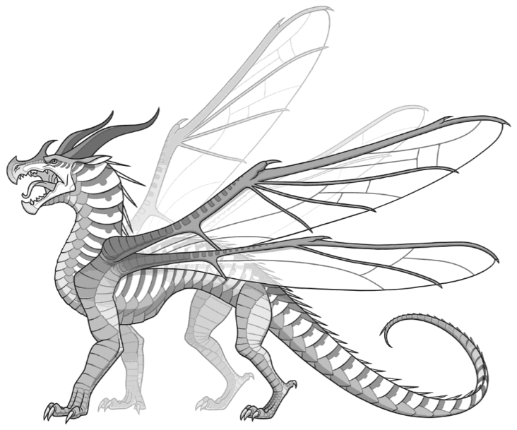 Canon drawing. Hivewing wings of fire
