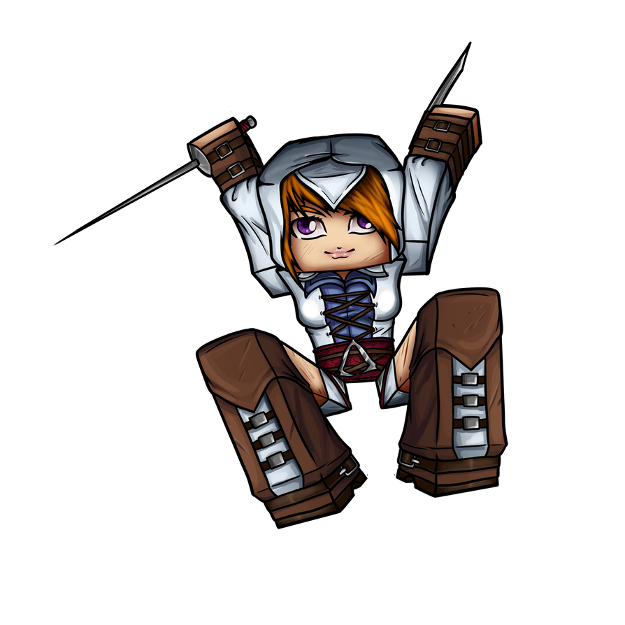 Drawing avatars minecraft girl. Avatar assassin coldice by