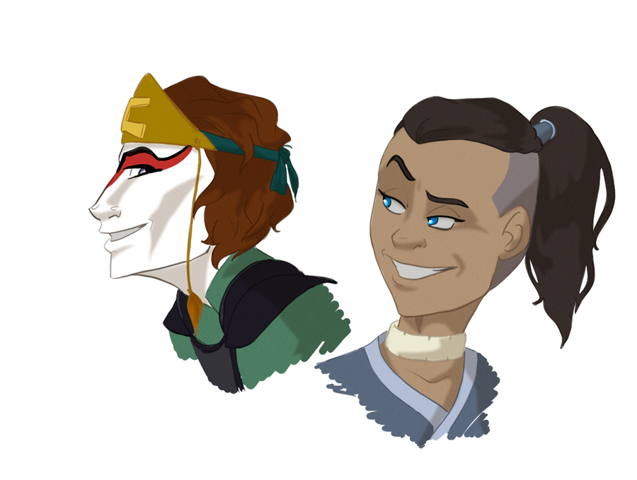 Sokka drawing fan. Suki rule by tophatturtle
