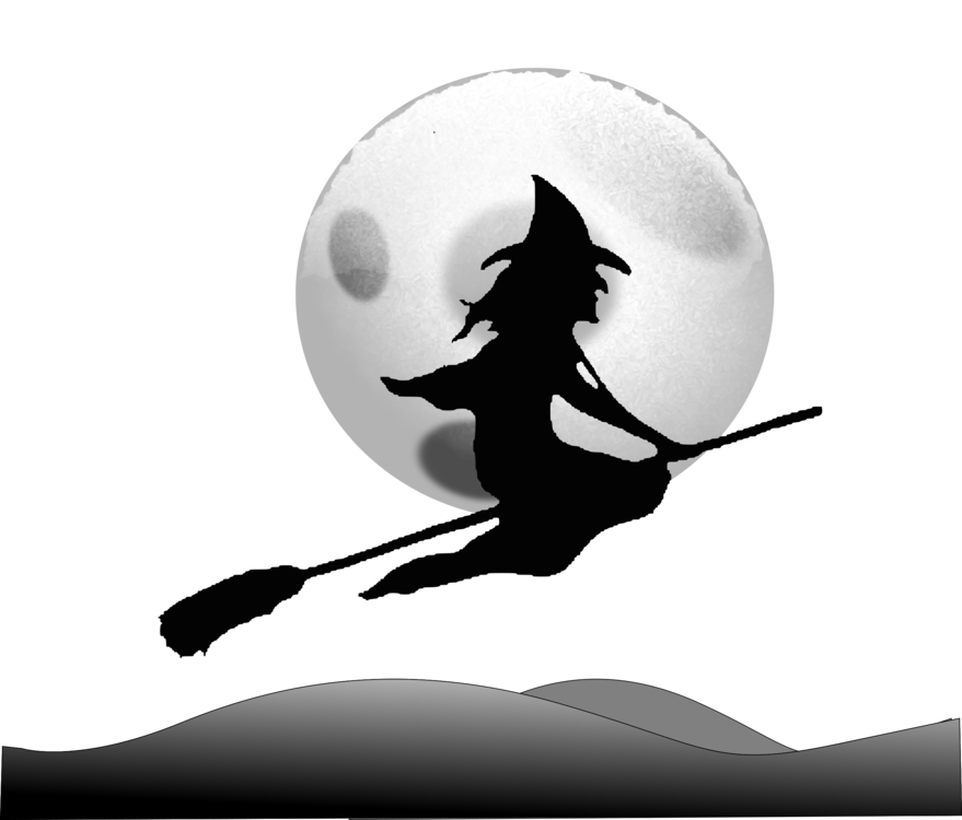 Drawing witch spooky. Witchcraft broom wicked of