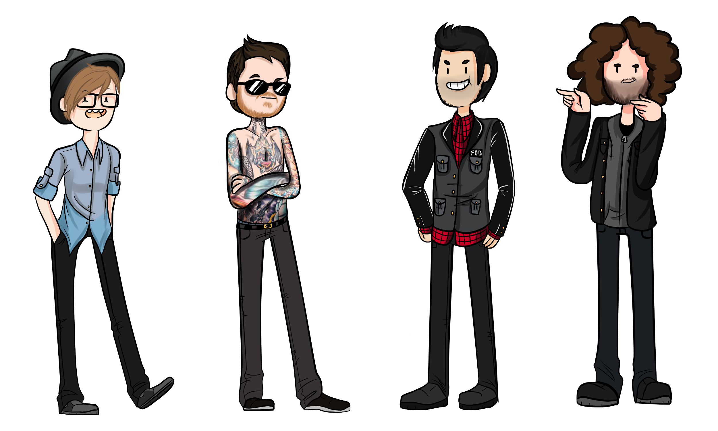Drawing bands boy. Fob adventure time style