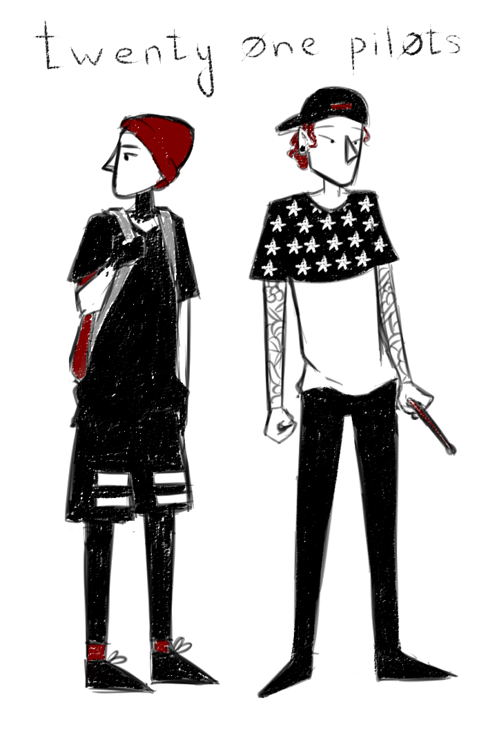 Drawing collages emo. Twenty one pilots by