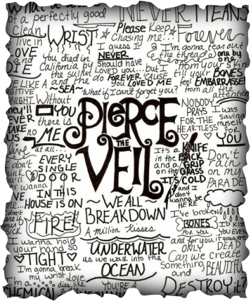 Drawing bands favorite. Pierce the veil