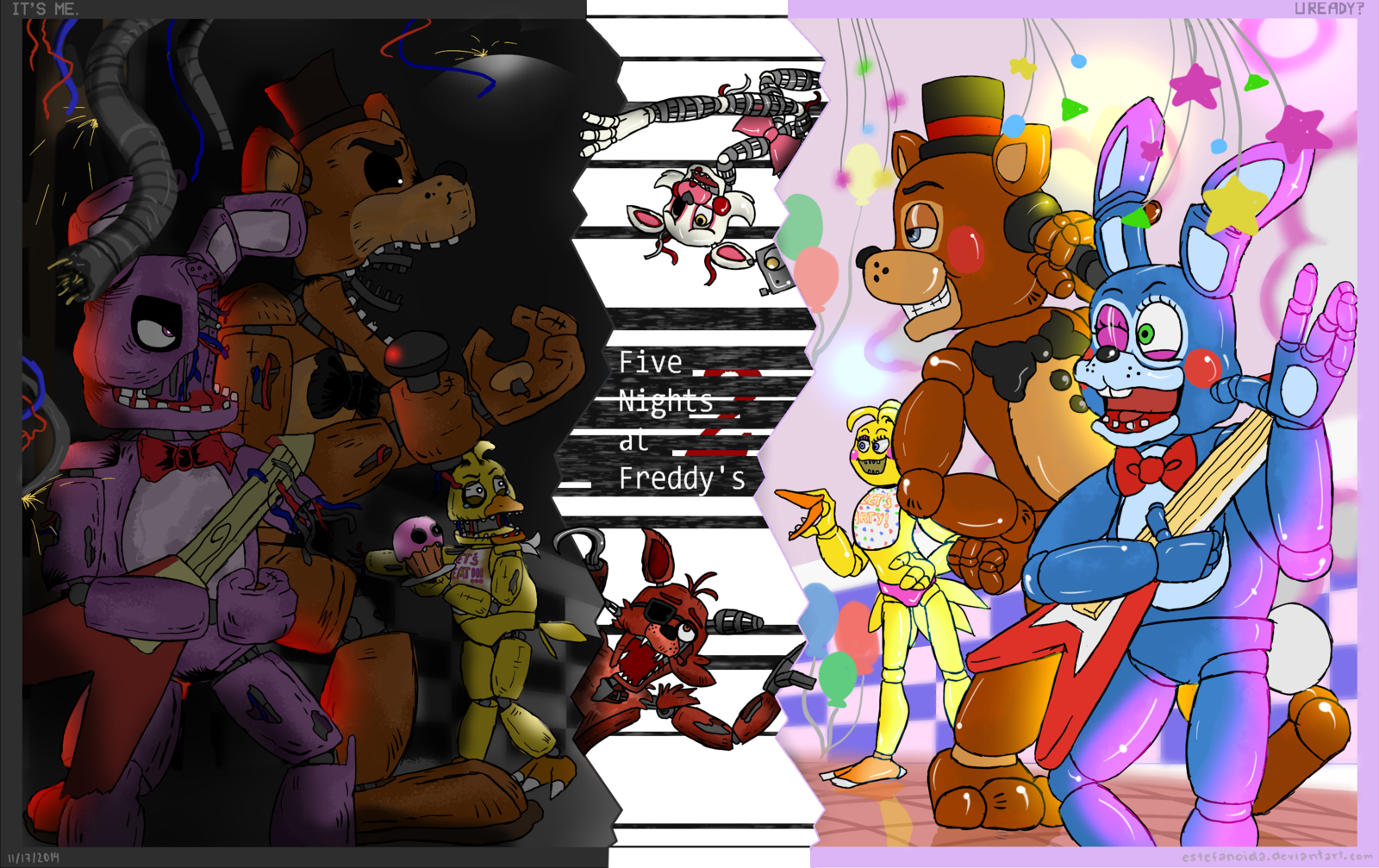 drawing bands fnaf