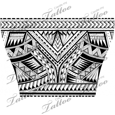 Drawing bands polynesian. Tattoo for the lower