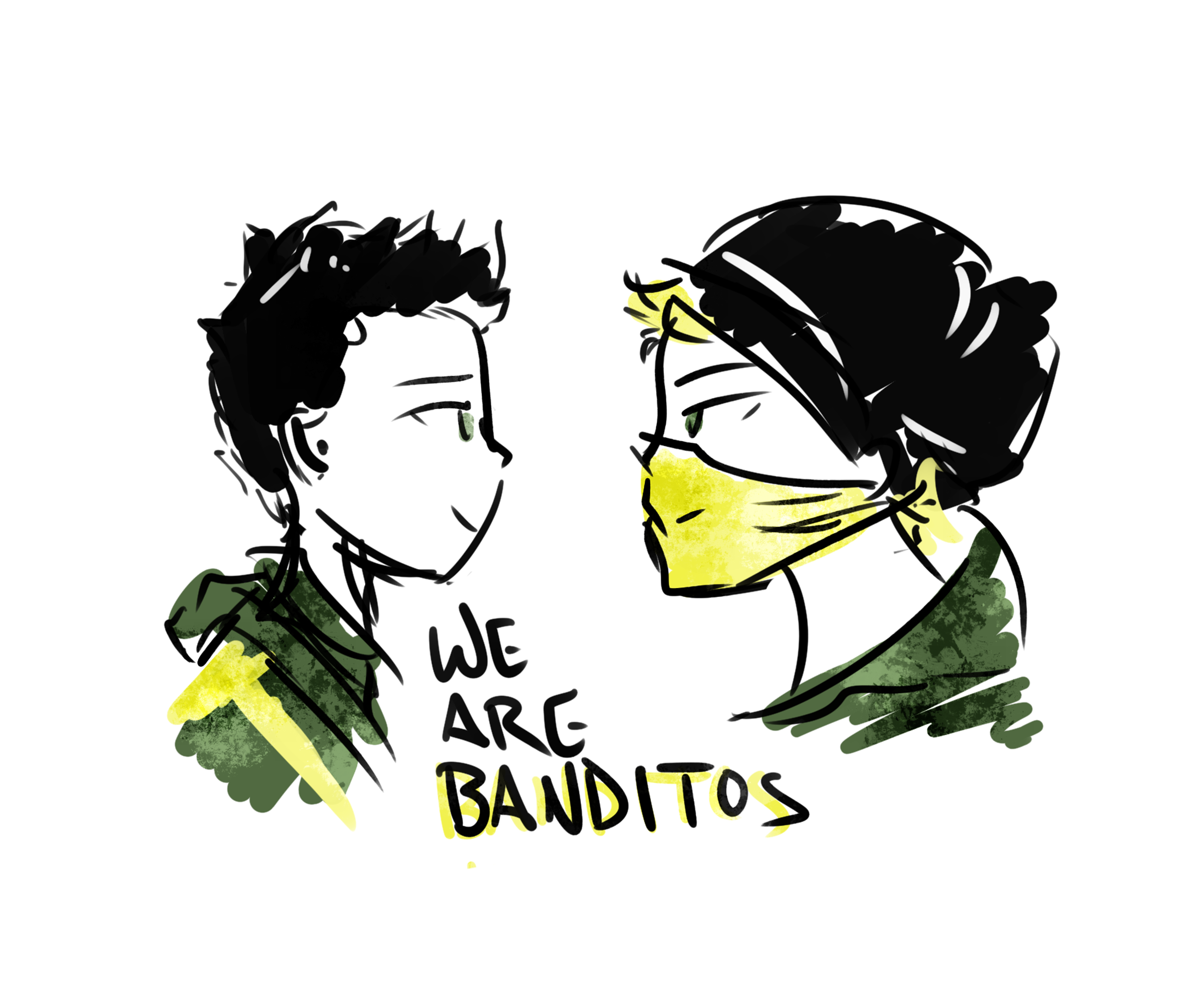 Drawing songs twenty one. We are banditos my