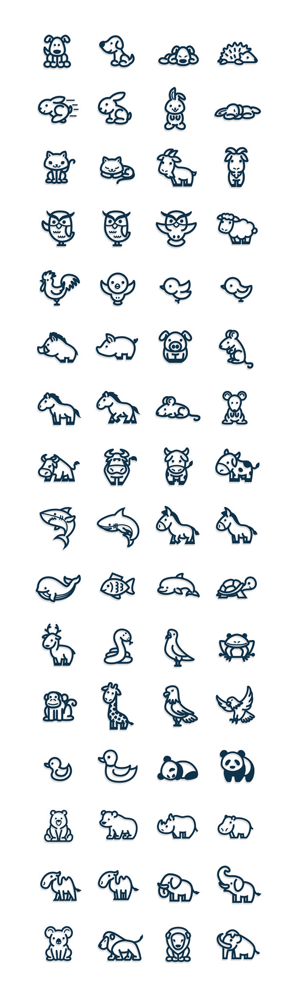 Drawing bands simple. Cute and vectorial animal