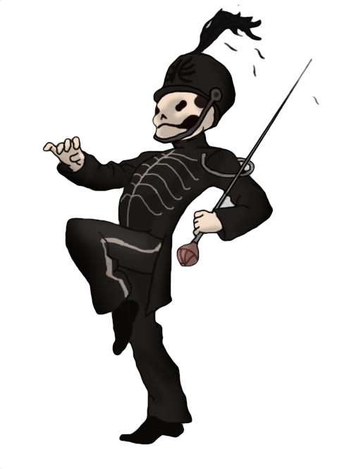 Drawing bands skeleton. You see that little