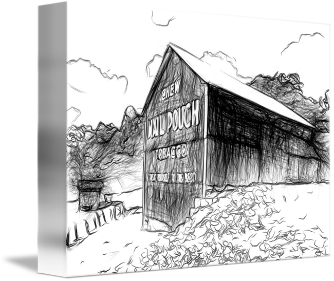 Shack drawing. Mail pouch barn marietta