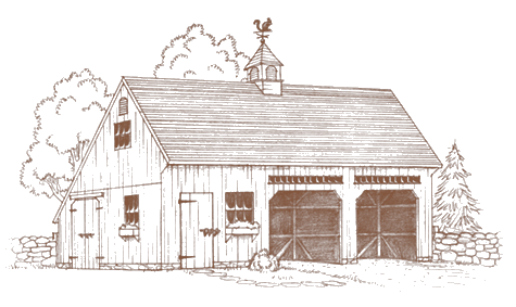 Drawing barns detailed. One a half story