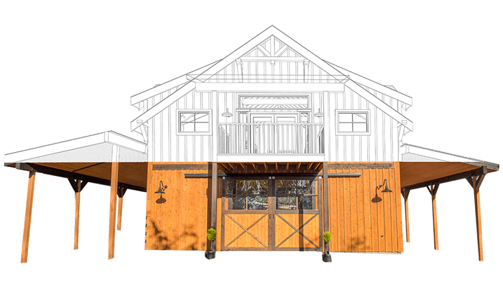 Drawing barns easy. Colorado apartment barn kits