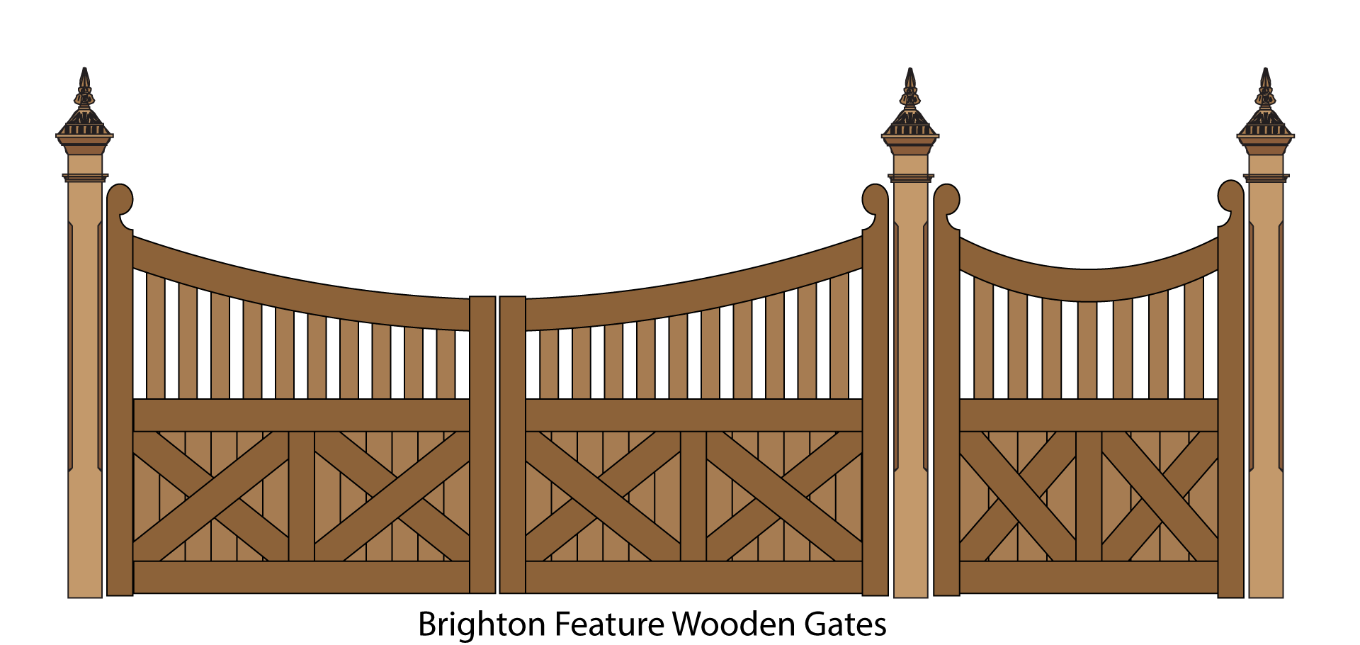 Drawing barns fence. Cliparts for free