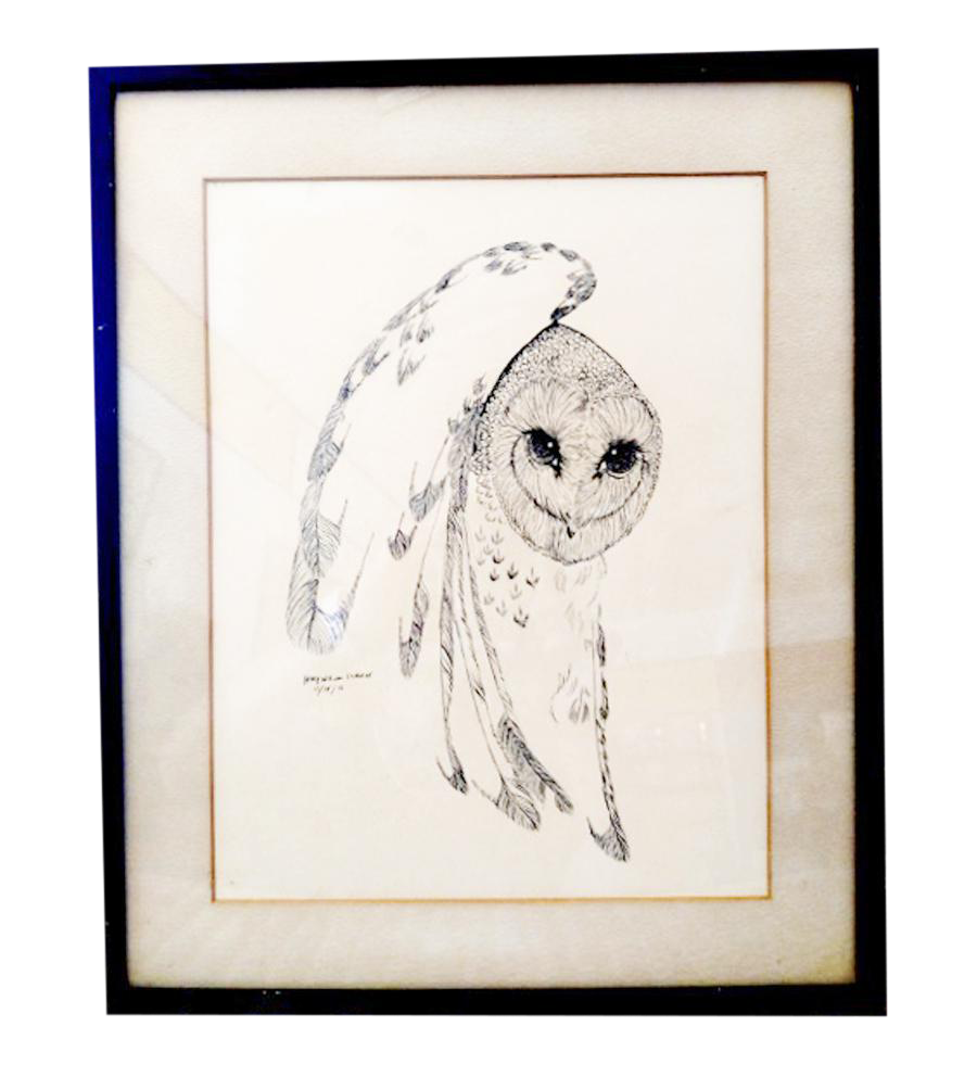 Drawing cowboys pen and ink. Owl chairish