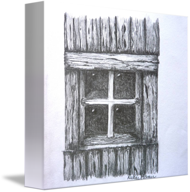 shack drawing countryside