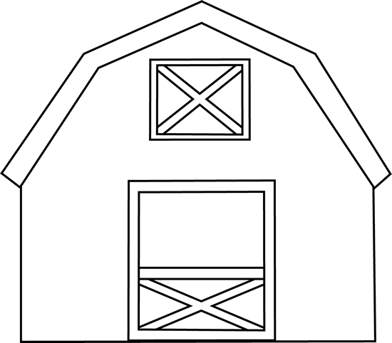 Drawing barns outline. Barn cliparts free download