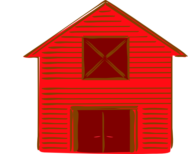 Drawing barns red barn. Image free download