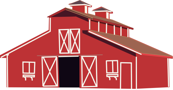Outdoor drawing barn silo. Red clip art at
