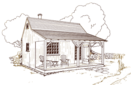 shack drawing country
