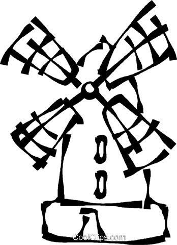 Vector windmill drawing. Line at getdrawings com