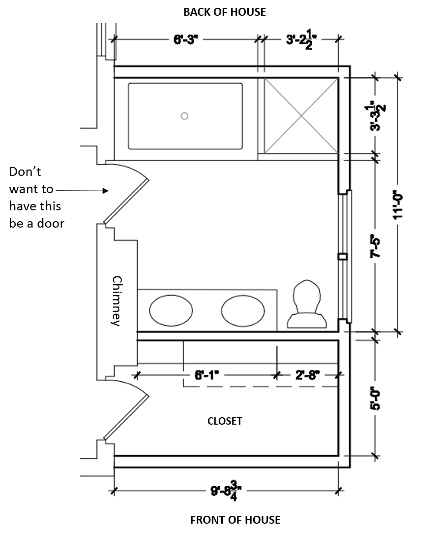 Drawing bathroom. When renovating can you