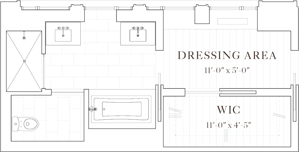 Upper west side pre. Drawing bathroom vector