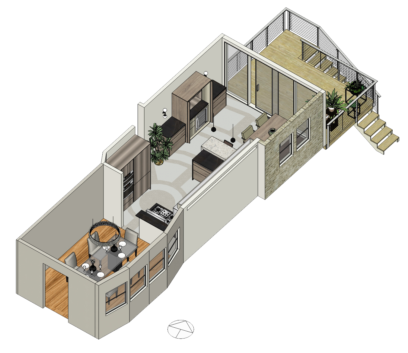 Drawing bathroom remodel. Kitchen claire fahrbach isometricview