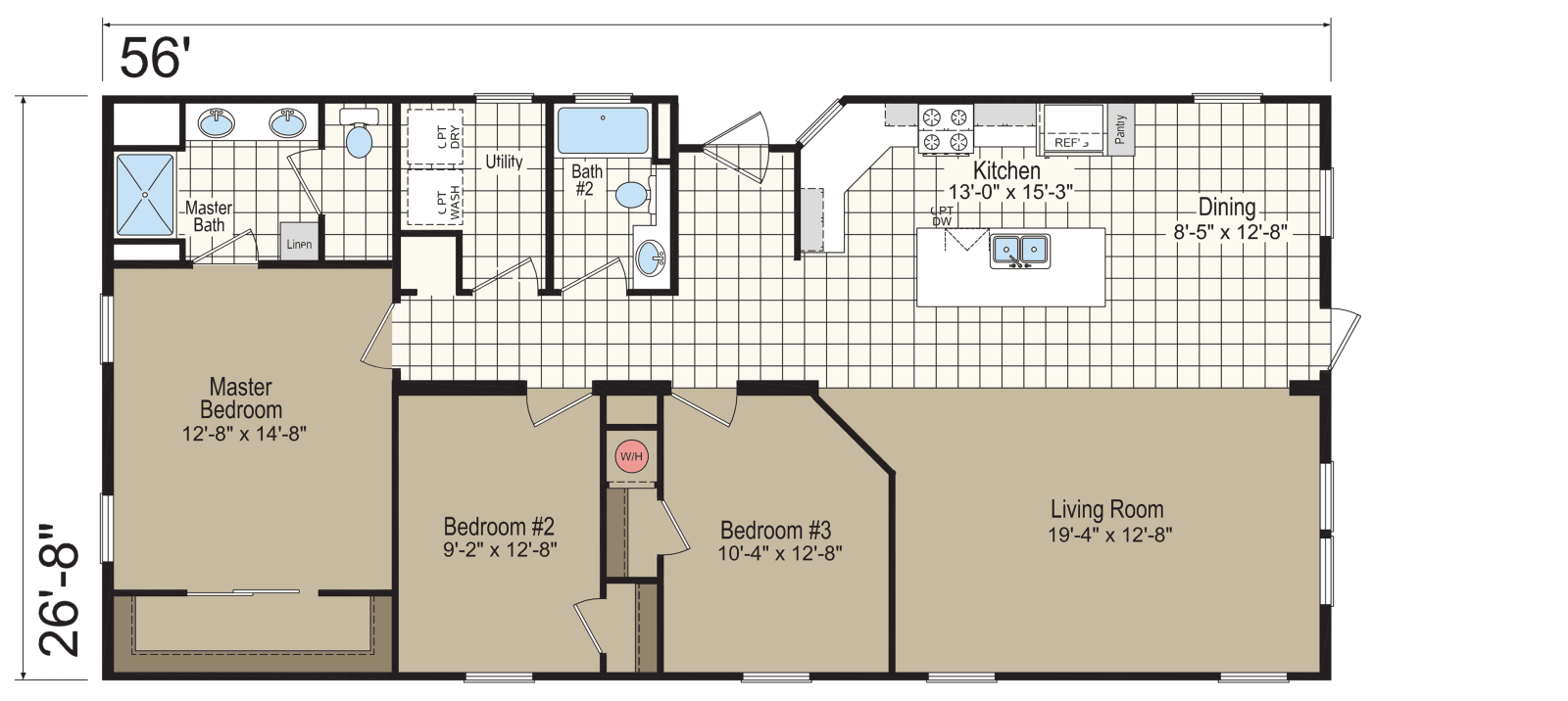Drawing bathroom section. Homc c built by