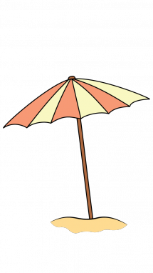 How to draw umbrella. Drawing beach clip art royalty free stock