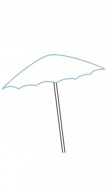 How to draw umbrella. Drawing beach easy svg download