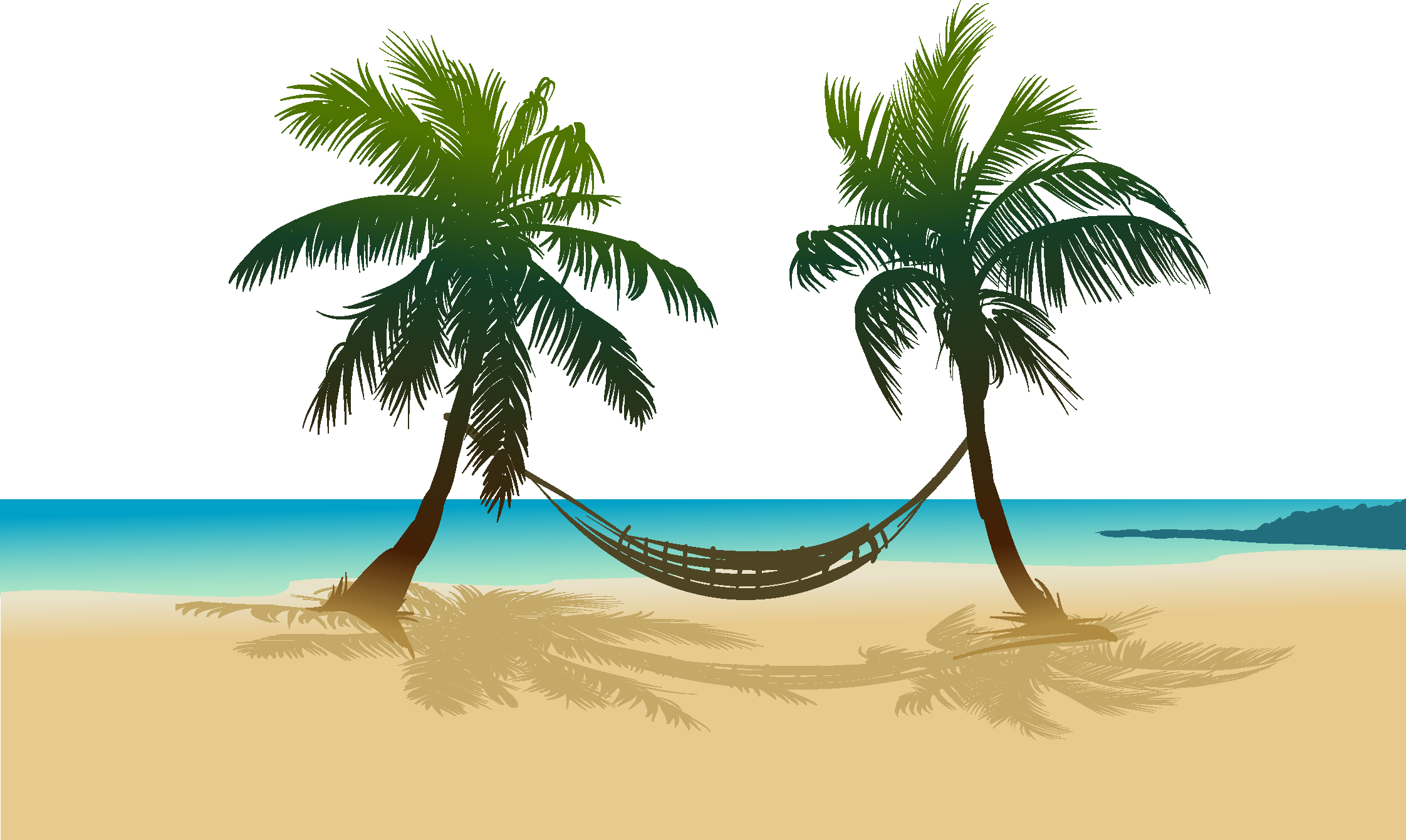 Drawing beach sea. Arecaceae sandy transprent png