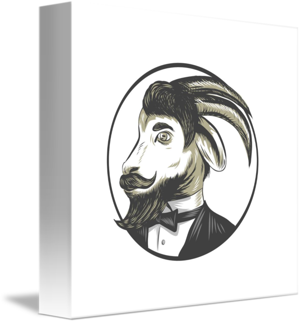 Drawing beard black and white. Goat tie tuxedo circle