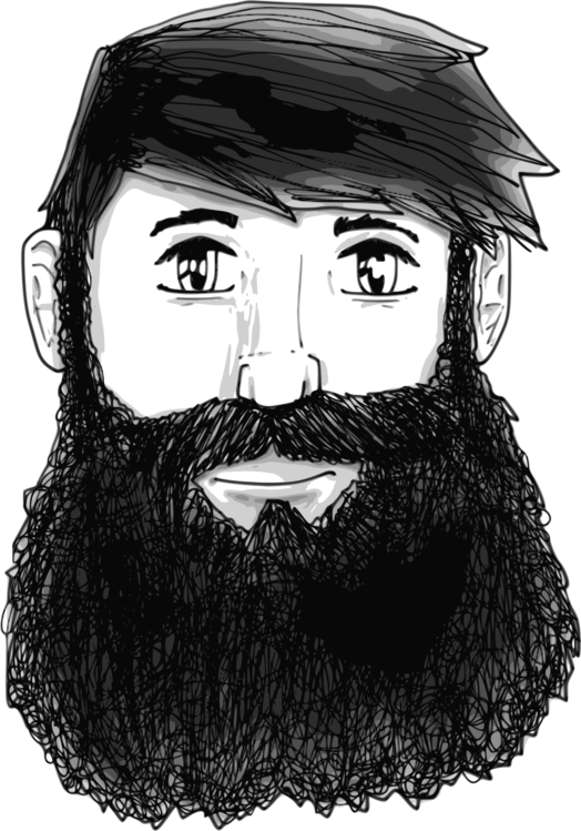 Drawing beard guy. Man moustache cartoon free