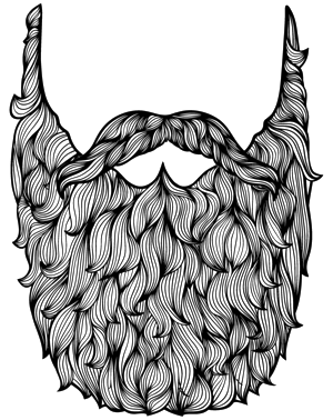 Drawing beard pen. Collection of images