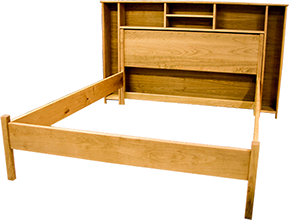 drawing bed bookcase headboard
